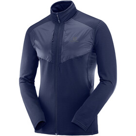 Salomon Grid Midlayer Doorlopende Rits Heren, night sky